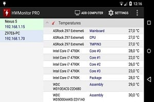 HWMonitor PRO for Android - Application monitoring system on Android free download